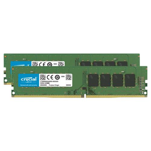 クルーシャル CT2K4G4DFS8266 [8GB Kit (4GBx2) DDR4 2666 MT/s (PC4-21300) CL19 SR x8 UDIMM 288pin]