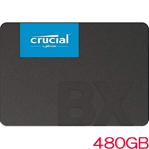 クルーシャル CT480BX500SSD1JP [480GB Crucial BX500 3D NAND SATA 2.5インチ SSD 国内正規代理店品]