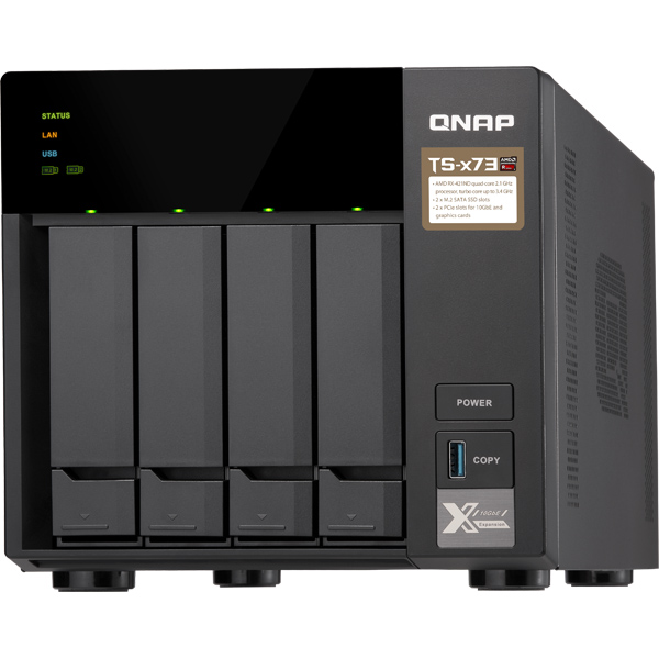 QNAP QNAP NAS T4734MW10 [TS-473 4TB (WD Red 1TBx4)]