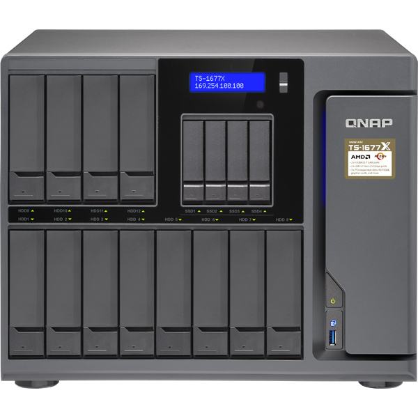 QNAP QNAP NAS T1677XN4012 [TS-1677X 8コア 48TB (NL 4TBx12)]