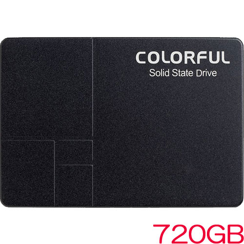 COLORFUL SL500 720G [720GB SSD 2.5インチ 7mm、SATA 6Gb、Intel 3D TLC、SMI SM2258XT、キャッシュレス、3年保証]