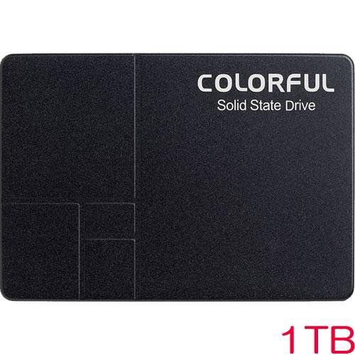 COLORFUL SL500 1TB [1TB SSD 2.5インチ 7mm、SATA 6Gb、3D TLC、SMI SM2258G、DDR3 1GBキャッシュ、3年保証]