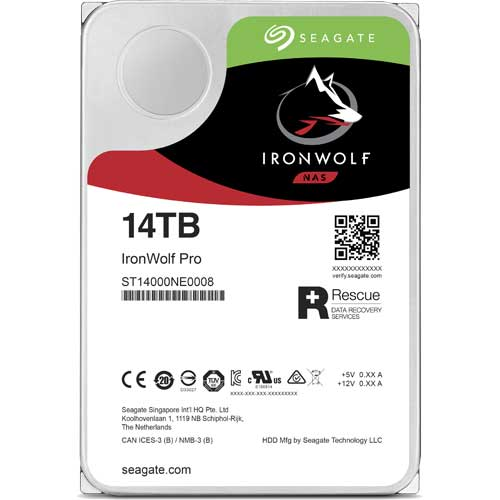 シーゲート ST14000NE0008 [NAS向けHDD IronWolf Pro(14TB 3.5インチ SATA 6G 7200rpm 256MB)]