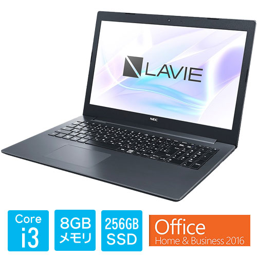 ★限定特価★PC-SN232GDAD-D [LAVIE Smart NS(i3-7020U 8GB SSD256GB DVD 15.6 FHD Win10 H&B2016 BK)]