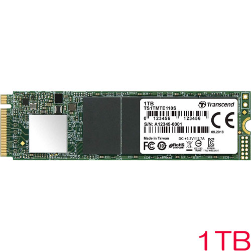 TS1TMTE110S [1TB PCIe SSD 110S M.2(2280) NVMe PCIe Gen3 x4 3D TLC]