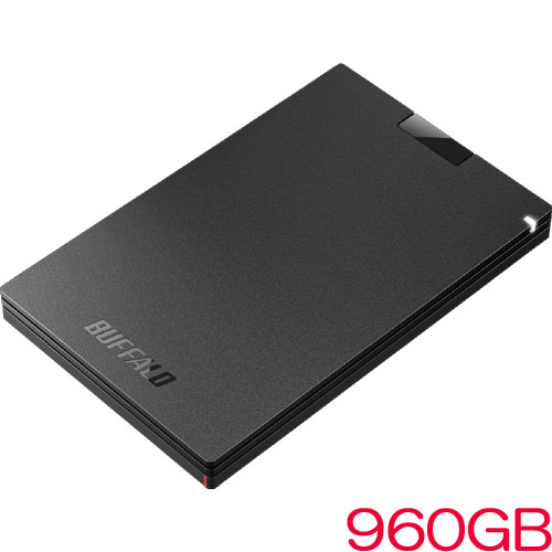 バッファロー SSD-PG960U3-BA [USB3.1(Gen1) ポータブルSSD 960GB ブラック]