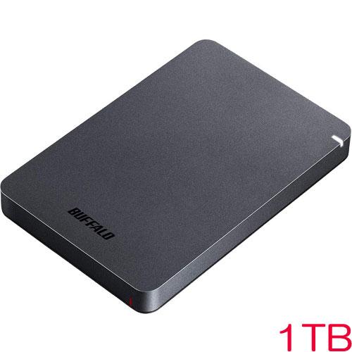 バッファロー HD-PGF1.0U3-BKA [USB3.1(Gen1) 耐衝撃ポータブルHDD 1TB ブラック]