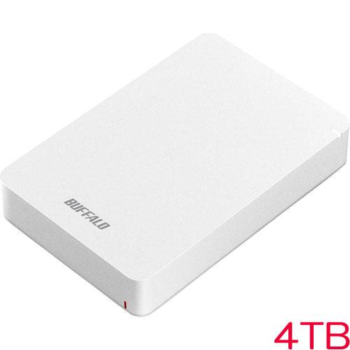 バッファロー HD-PGF4.0U3-GWHA [USB3.1(Gen1) 耐衝撃ポータブルHDD 4TB ホワイト]