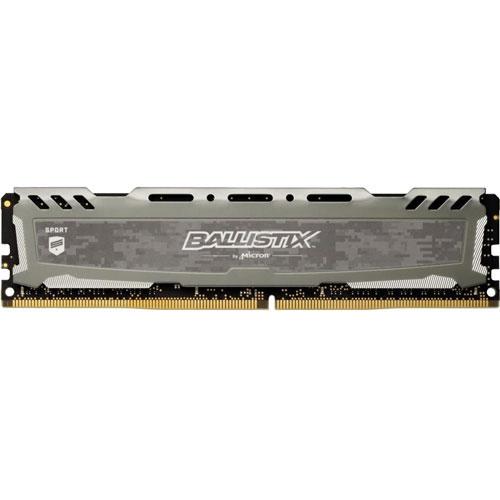 クルーシャル BLS8G4D30AESBK [Ballistix Sport LT 8GB DDR4 3000 MT/s (PC4-24000) CL15 SR x8 UDIMM 288pin Gray]