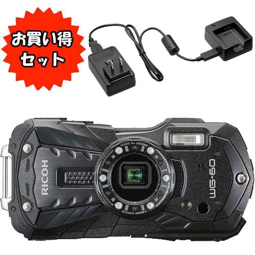 ★バッテリー充電器セット★WG-60BK [防水デジタルカメラ WG-60 (ブラック)]