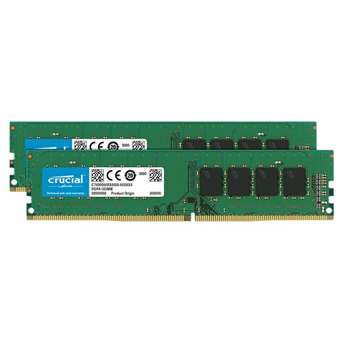 クルーシャル CT2K8G4DFS832A [16GB Kit (8GBx2) DDR4 3200 MT/s (PC4-25600) CL22 SR x8 Unbuffered DIMM 288pin]