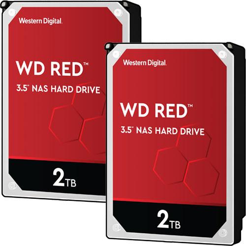 ウエスタンデジタル ★お得な2台セット★WD20EFAX [WD Red(2TB 3.5インチ SATA 6G 5400rpm 256MB SMR)]
