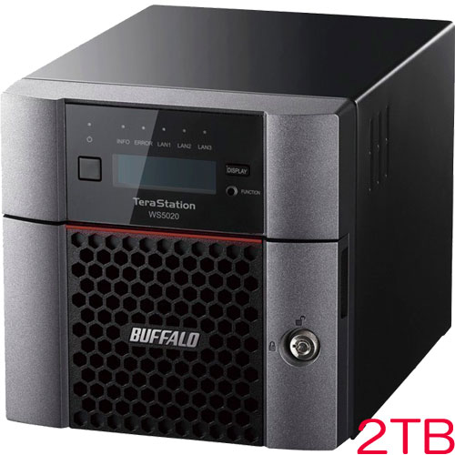 TeraStation WS5220DN02W9 [WS IoT2019WE 2ベイデスクトップNAS 2TB]