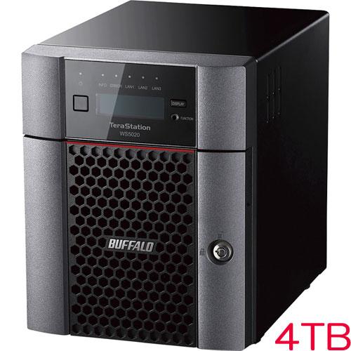バッファロー TeraStation WS5420DN04W9 [WS IoT2019WE 4ベイデスクトップNAS 4TB]