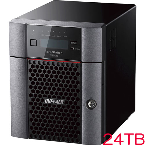 バッファロー TeraStation WS5420DN24S9 [WS IoT2019SE 4ベイデスクトップNAS 24TB]