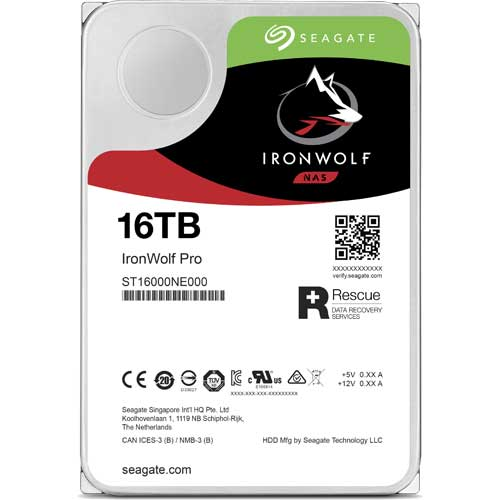 シーゲート ST16000NE000 [NAS向けHDD IronWolf Pro(16TB 3.5インチ SATA 6G 7200rpm 256MB)]