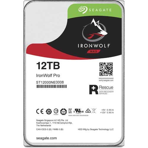 シーゲート ST12000NE0008 [NAS向けHDD IronWolf Pro(12TB 3.5インチ SATA 6G 7200rpm 256MB)]