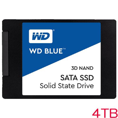 WDS400T2B0A [WD Blue 3D NAND SATA SSD(4TB 2.5インチ 7mm厚 SATA 6G 5年保証)]