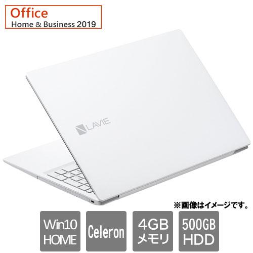 NEC PC-NS100N2W [LAVIE Note Standard NS100/N2W(Cel 4GB 500GB DSM 15.6 W10H HB2019 WH)]