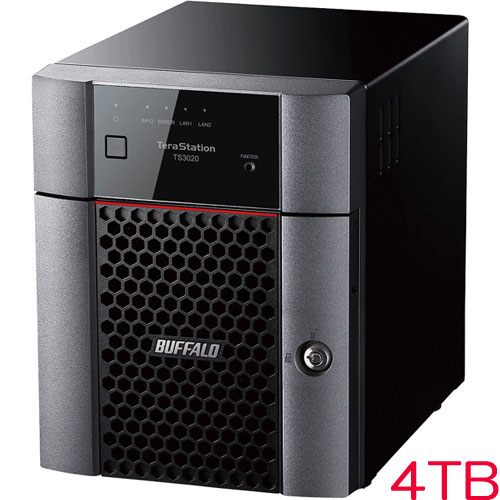 バッファロー TS3420DN0404 [TS3020DNシリーズ 4ベイデスクトップNAS 4TB]