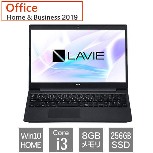 PC-SN212LFDF-D [LAVIE Smart NS(Core i3 8GB 256GB DSM 15.6 W10H64 H&B2019 BK)]