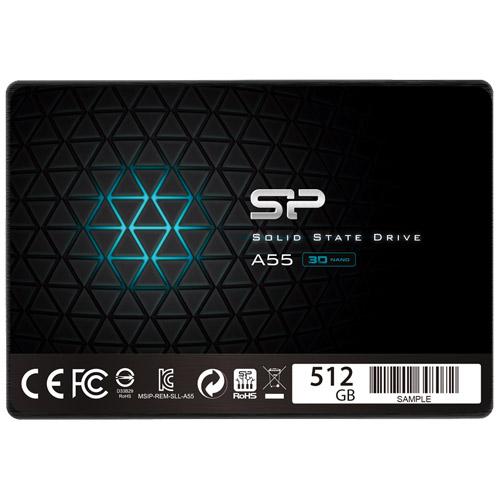 SSD A55 SPJ512GBSS3A55B [【SSD】SATA3 2.5インチ 7mm 512GB]