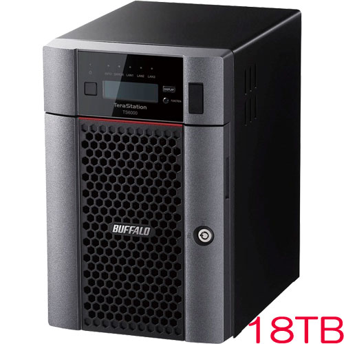 バッファロー TeraStation TS6600DN1806 [TS6000DNシリーズ 6ベイ デスクトップNAS 18TB]
