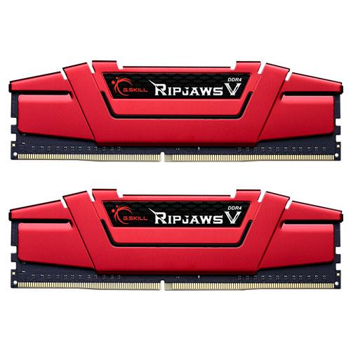 G.SKILL F4-2400C17D-8GVR [Ripjaws V 8GB (4GBx2) DDR4 2400Mhz (PC4-19200) CL17-17-17-39 1.20V Red]
