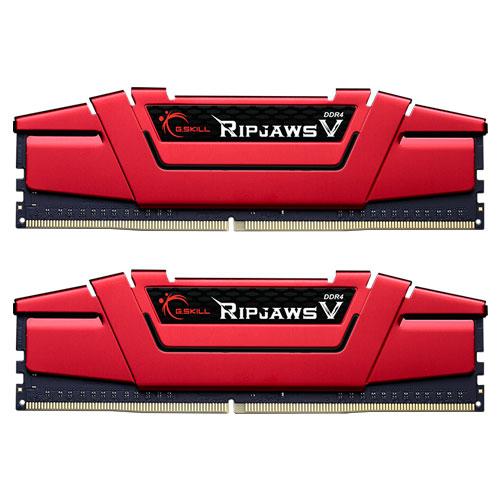 G.SKILL F4-2400C17D-16GVR [Ripjaws V 16GB (8GBx2) DDR4 2400Mhz (PC4-19200) CL17-17-17-39 1.20V Red]