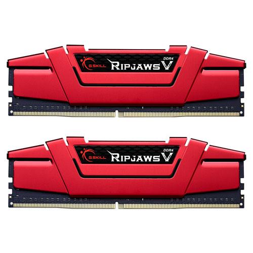 G.SKILL F4-2400C15D-32GVR [Ripjaws V 32GB (16GBx2) DDR4 2400Mhz (PC4-19200) CL15-15-15-35 1.20V Red]