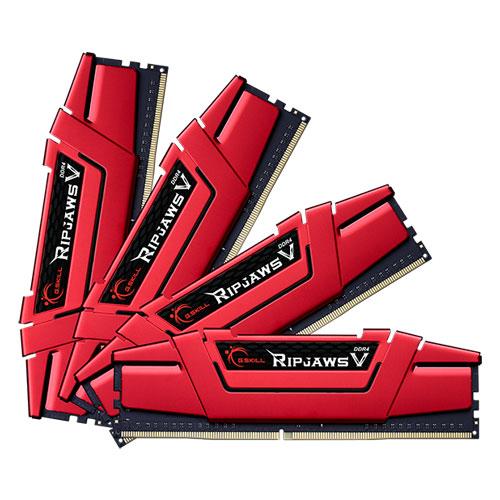 G.SKILL F4-2400C15Q-32GVR [Ripjaws V 32GB (8GBx4) DDR4 2400Mhz (PC4-19200) CL15-15-15-35 1.20V Red]