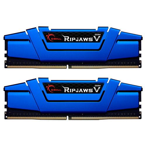 G.SKILL F4-2400C15D-16GVB [Ripjaws V 16GB (8GBx2) DDR4 2400Mhz (PC4-19200) CL15-15-15-35 1.20V Blue]
