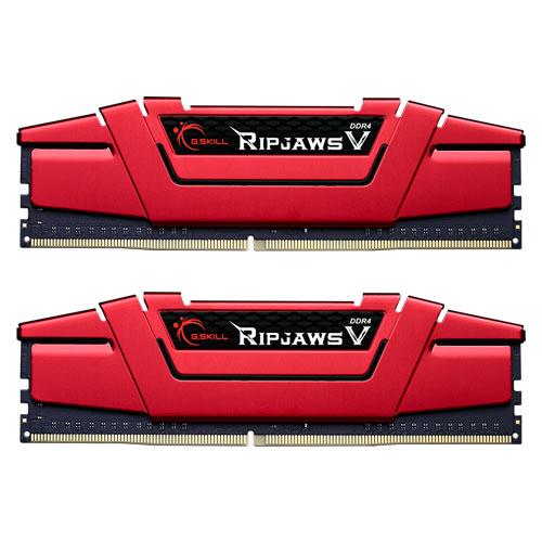 G.SKILL F4-2400C15D-16GVR [Ripjaws V 16GB (8GBx2) DDR4 2400Mhz (PC4-19200) CL15-15-15-35 1.20V Red]