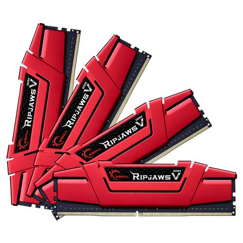 G.SKILL F4-2133C15Q-64GVR [Ripjaws V 64GB (16GBx4) DDR4 2133Mhz (PC4-17000) CL15-15-15-36 1.20V Red]