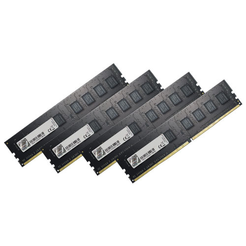 G.SKILL F4-2400C15Q-32GNT [Value 32GB (8GBx4) DDR4 2400Mhz (PC4-19200) CL15-15-15-35 1.20V]