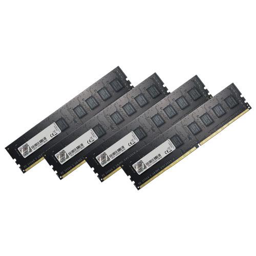 G.SKILL F4-2400C15Q-16GNT [Value 16GB (4GBx4) DDR4 2400Mhz (PC4-19200) CL15-15-15-35 1.20V]
