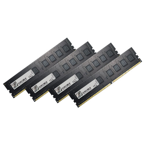 G.SKILL F4-2133C15Q-32GNT [Value 32GB (8GBx4) DDR4 2133Mhz (PC4-17000) CL15-15-15-35 1.20V]