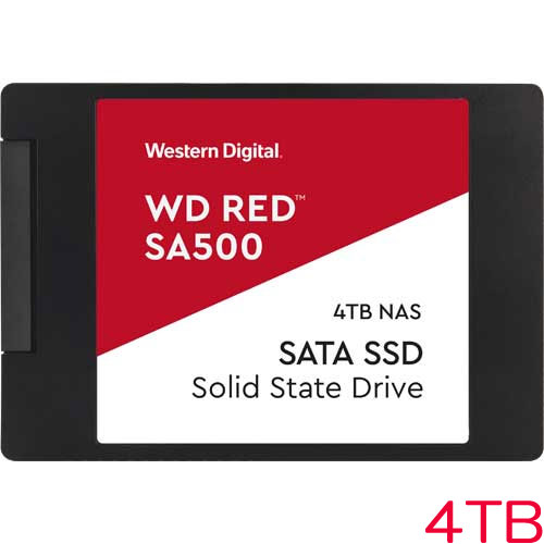 WDS400T1R0A [WD Red SA500 NAS SATA SSD(4TB 2.5インチ 7mm厚 SATA 6G 2500TBW 5年保証)]