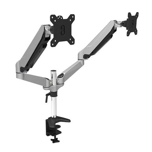 JN-GM324DV [ガス式液晶ディスプレイアーム クランプ対応 15-32インチ対応 耐荷重8kg 2画面 4軸]