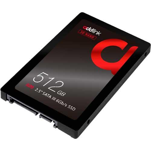 addlink ad512GBS20S3S [512GB SSD S20 2.5インチ 7mm SATA III 6Gb 3D TLC 3年保証]