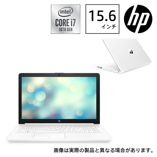 HP HP 15-da(15.6/i7/8GB/SSD128GB+HDD 1TB/GeForce MX130 グラフィックス)ピュアホワイト 9AK25PA-AAAA