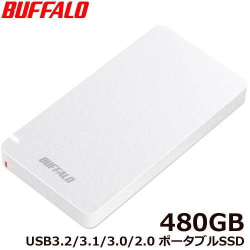 バッファロー SSD-PGM480U3-W/N [ポータブルSSD USB3.2 480GB ホワイト]