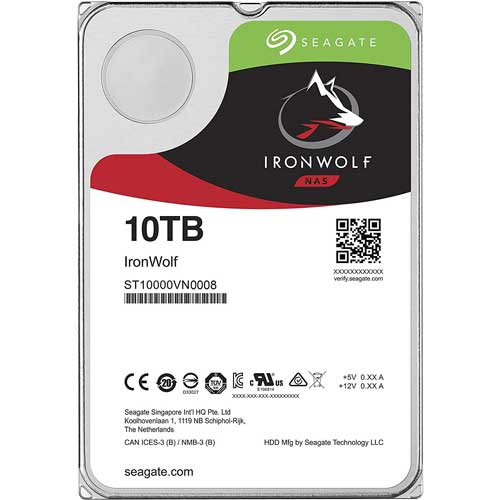 シーゲート ST10000VN0008 [NAS向けHDD IronWolf(10TB 3.5インチ SATA 6G 7200rpm 256MB)]