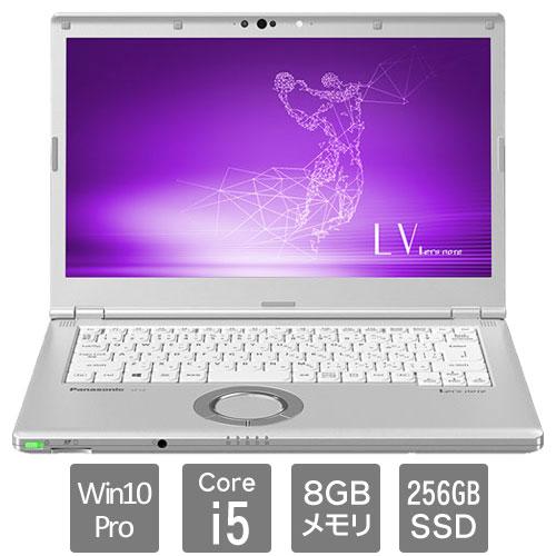パナソニック Let's note LV CF-LV8TDLVS [LV8 法人モデル(i5vPro 8G 256G 電池S 顔認証)] ビジネスPC