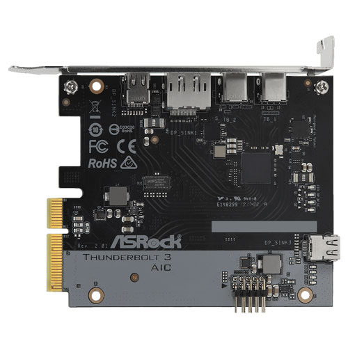 ASRock Thunderbolt 3 AIC R2.0 [増設カード(2 x Thunderbolt 3 (USB Type-C)、1 x DP IN、1 x Mini DP IN)]