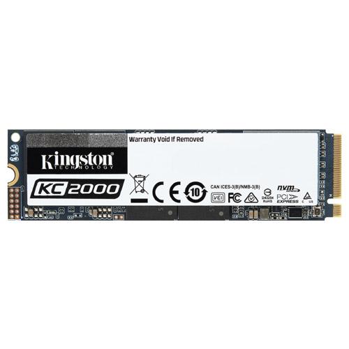 キングストン SKC2000M8/2000G [2000GB SSD KC2000 (M.2 2280 / NVMe PCIe Gen 3.0x4/ SMI 2262EN / 1.2PBW / 5年保証)]