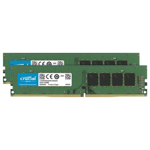 クルーシャル CT2K32G4DFD8266 [64GB Kit (32GBx2) DDR4 2666 MT/s (PC4-21300) CL19 DR x8 Unbuffered DIMM 288pin]