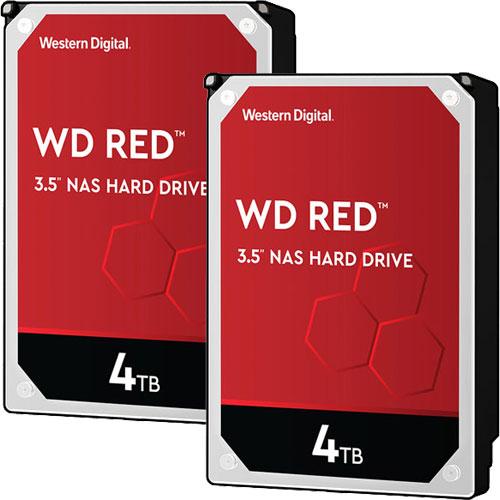 ウエスタンデジタル ★お得な2台セット★WD40EFAX [WD Red(4TB 3.5インチ SATA 6G 5400rpm 256MB SMR)]