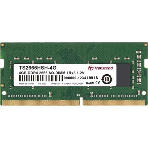 トランセンド TS2666HSH-4G [4GB DDR4 2666 Unbuffered SO-DIMM 1Rx8 (512Mx8) CL19 1.2V 260pin]