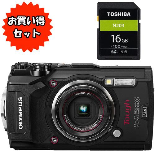 ★お得なシリコンジャケットセット★TG-6 BLK [デジタルカメラ Tough TG-6 (ブラック)]